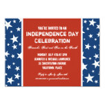 """The Red, White and Blue July 4th Party Invitation 4.5"""" X 6.25"""" Invitation Card"""