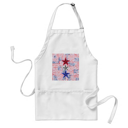The Red White and Blue Stars. Adult Apron