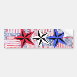 The Red White and Blue Stars. Bumper Stickers