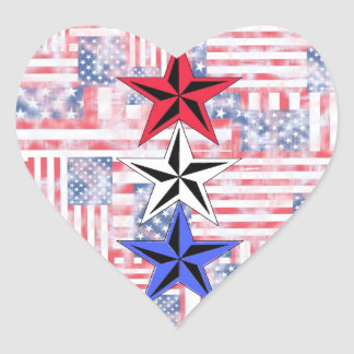 The Red White and Blue Stars. Sticker