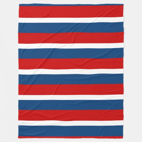 The Red White and Blue Tri-Striped Fleece Blanket