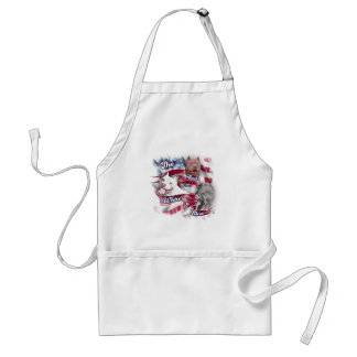 The Red White Blue Pitbull Dogs Aprons