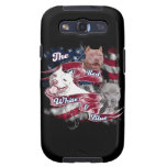 The Red, White & Blue Pitbull Dogs Samsung Galaxy S3 Cover