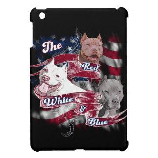 The Red, White & Blue Pitbull Dogs iPad Mini Cover