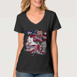 The Red, White & Blue Pitbull Dogs T Shirt