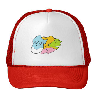 The Red & White Cap Trucker Hat