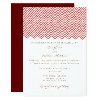 The Red Zig Zag Wedding Invitation