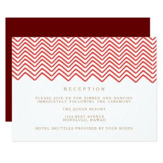 The Red Zig Zag Wedding Reception Card