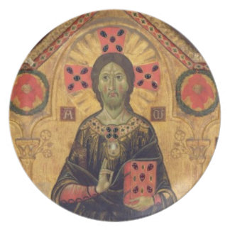 The Redeemer, Virgin and Saints, 1271 (tempera on Melamine Plate
