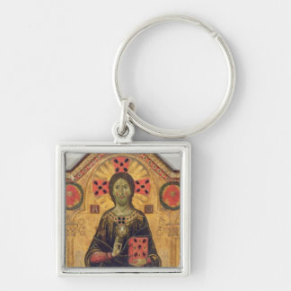 The Redeemer, Virgin and Saints, 1271 (tempera on Silver-Colored Square Keychain