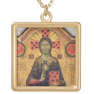 The Redeemer, Virgin and Saints, 1271 (tempera on Square Pendant Necklace