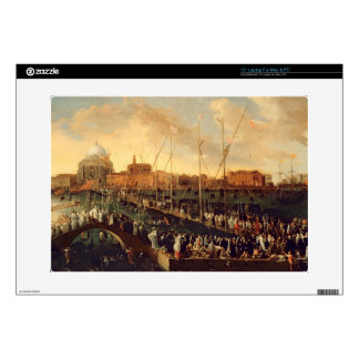 The Redentore Procession (oil on canvas) Laptop Decal