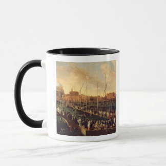 The Redentore Procession (oil on canvas) Mug