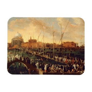 The Redentore Procession oil on canvas Vinyl Magnets