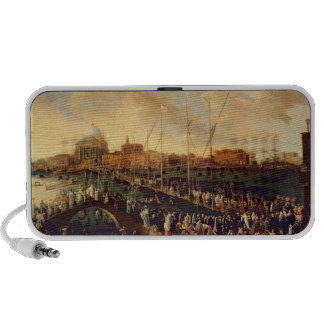 The Redentore Procession oil on canvas Portable Speakers