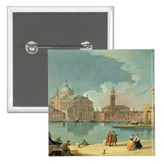 The Redentore, Venice 2 Inch Square Button