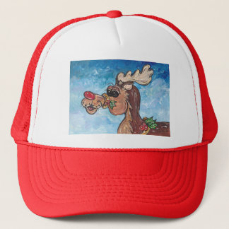 the Rednose Reindeer Trucker Hat