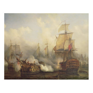 The Redoutable at Trafalgar, 21st October 1805 Panel Wall Art