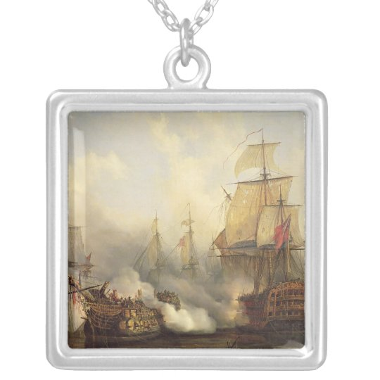 The Redoutable at Trafalgar, 21st October 1805 Silver Plated Necklace
