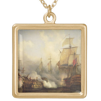 The Redoutable at Trafalgar, 21st October 1805 Square Pendant Necklace