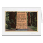 The Redwood Highway, Poem by Strauss Greeting Card