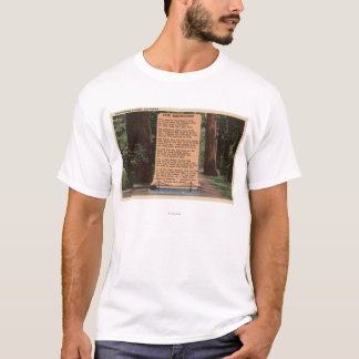 The Redwood Highway, Poem by Strauss T-Shirt