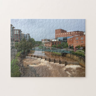 The Reedy River after the storm Jigsaw Puzzle