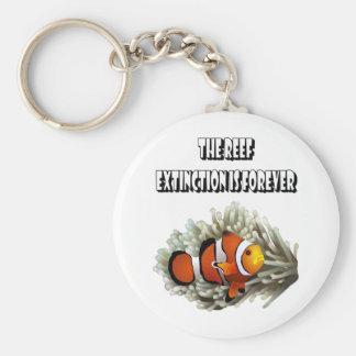 The Reef Basic Round Button Keychain