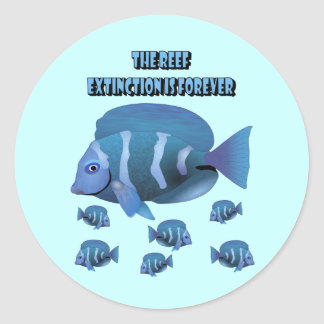 The Reef Round Stickers