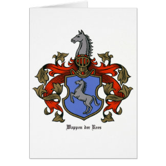 The Rees Coat of Arms Card