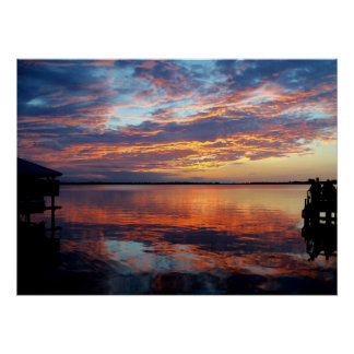 The Reflecting Pond - Sunset over Florida Poster