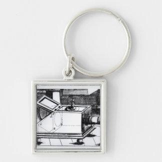 The reflex box camera obscura keychain