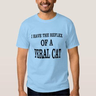 The reflex of a Feral Cat! Tee Shirt