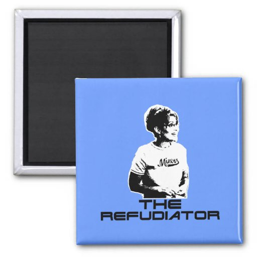 the-refudiator 2 inch square magnet
