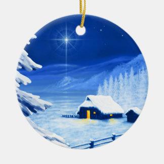 The refuge under the Christmas star Ceramic Ornament