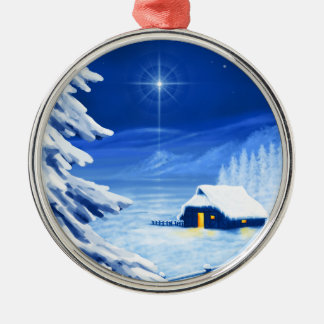 The refuge under the Christmas star Christmas Ornament