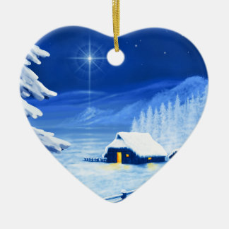 The refuge under the Christmas star Christmas Tree Ornament