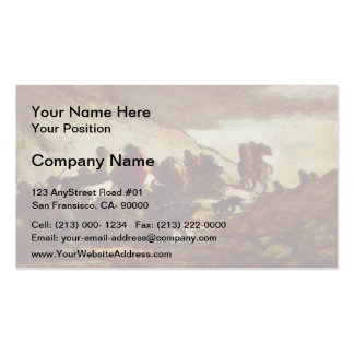 The Refugees by Honore Daumier Business Card Template