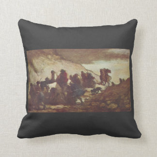 The Refugees by Honore Daumier Pillows