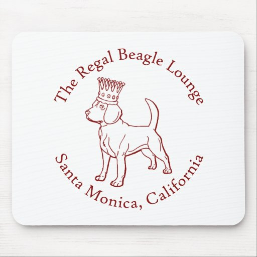 The Regal Beagle Lounge Mouse Pad