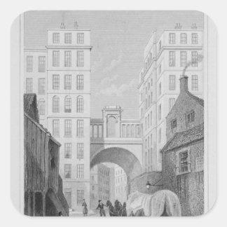 The Regent Bridge, Edinburgh Square Sticker