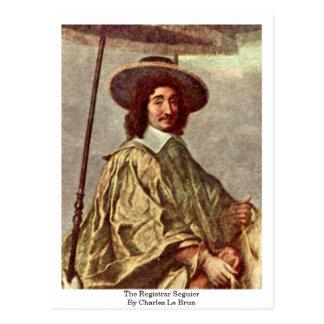 The Registrar Seguier By Charles Le Brun Postcard