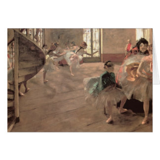 The Rehearsal by Edgar Degas, Vintage Ballet Art Card