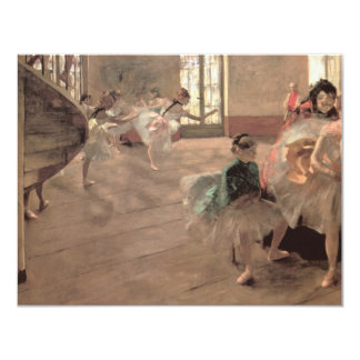 The Rehearsal by Edgar Degas, Vintage Ballet Art Card