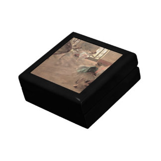 The Rehearsal by Edgar Degas, Vintage Ballet Art Jewelry Box