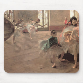 The Rehearsal by Edgar Degas, Vintage Ballet Art Mouse Pad