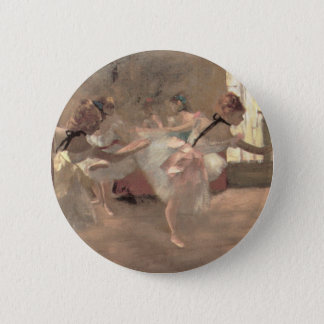 The Rehearsal by Edgar Degas, Vintage Ballet Art Pinback Button