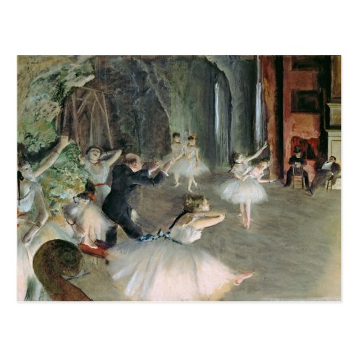 The Rehearsal of the Ballet on Stage, c.1878-79 Postcard