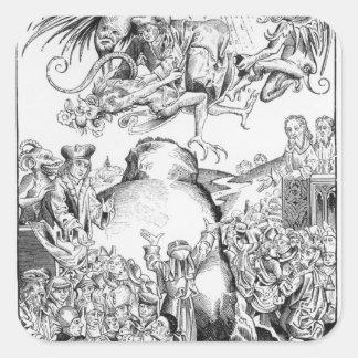 The Reign of Antichrist Square Sticker
