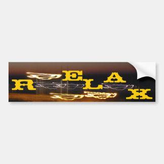The Relax Bumper Sticker